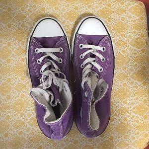 Purple Hightop Converse